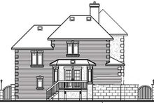 European Exterior - Rear Elevation Plan #23-2087