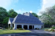 Mediterranean Style House Plan - 5 Beds 4.5 Baths 5615 Sq/Ft Plan #923-135 Exterior - Other Elevation