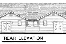 Dream House Plan - Traditional Exterior - Rear Elevation Plan #18-1031