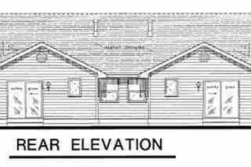 Traditional Exterior - Rear Elevation Plan #18-1031 - Houseplans.com