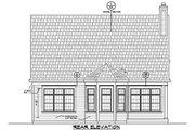 Traditional Style House Plan - 3 Beds 3 Baths 2196 Sq/Ft Plan #20-2275 Exterior - Rear Elevation
