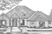 European Style House Plan - 4 Beds 3.5 Baths 2816 Sq/Ft Plan #310-386 Exterior - Front Elevation