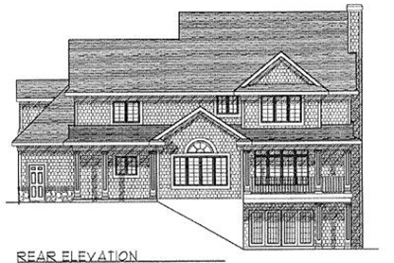 Traditional Exterior - Rear Elevation Plan #70-440 - Houseplans.com