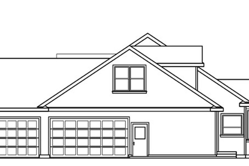 Ranch Exterior - Other Elevation Plan #124-543 - Houseplans.com