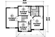 Contemporary Style House Plan - 3 Beds 1.5 Baths 2080 Sq/Ft Plan #25-4309 Floor Plan - Upper Floor Plan