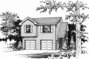 Traditional Style House Plan - 1 Beds 1 Baths 701 Sq/Ft Plan #22-461 Exterior - Other Elevation
