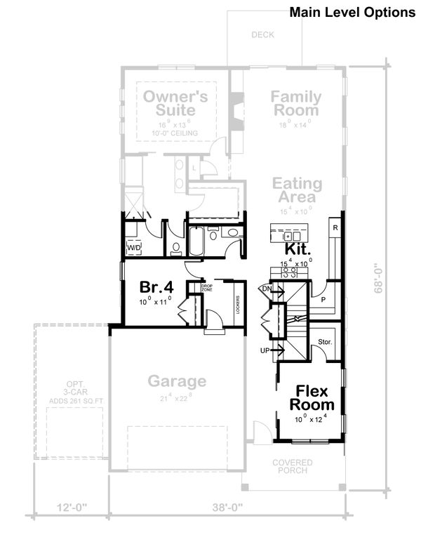 Craftsman Floor Plan - Other Floor Plan Plan #20-2359