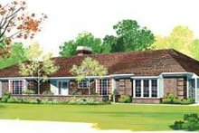 House Blueprint - Traditional Exterior - Front Elevation Plan #72-157