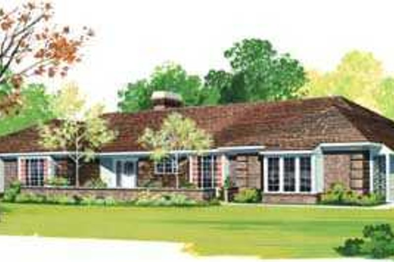 Traditional Exterior - Front Elevation Plan #72-157 - Houseplans.com