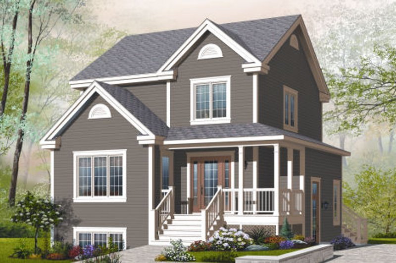 Country Exterior - Front Elevation Plan #23-2183