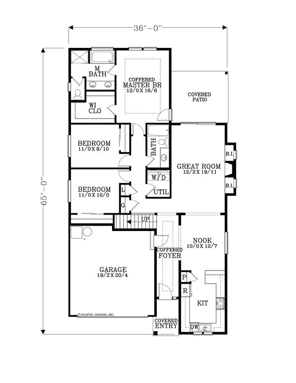 Craftsman Floor Plan - Main Floor Plan Plan #53-602