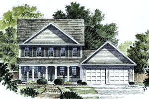 Country Exterior - Front Elevation Plan #316-113