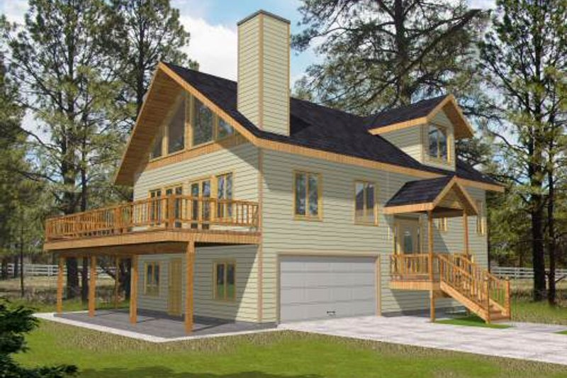 Home Plan - Bungalow Exterior - Front Elevation Plan #117-571
