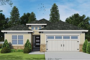 Architectural House Design - Mediterranean Exterior - Front Elevation Plan #20-2424