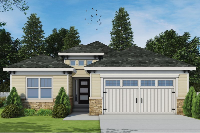 House Design - Mediterranean Exterior - Front Elevation Plan #20-2424