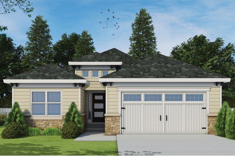 House Plan Design - Mediterranean Exterior - Front Elevation Plan #20-2424