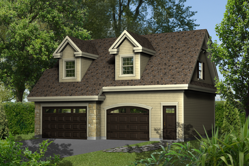 Traditional Style House Plan - 0 Beds 0 Baths 670 Sq/Ft Plan #25-4624 Exterior - Front Elevation