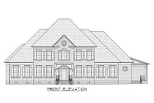 Classical Exterior - Front Elevation Plan #1054-63