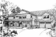 Craftsman Style House Plan - 3 Beds 2.5 Baths 3005 Sq/Ft Plan #78-101 Exterior - Front Elevation