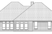 Traditional Style House Plan - 4 Beds 3 Baths 2606 Sq/Ft Plan #84-504 Exterior - Rear Elevation