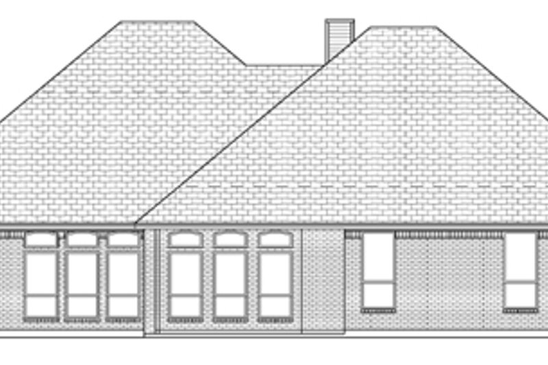 Traditional Exterior - Rear Elevation Plan #84-504 - Houseplans.com
