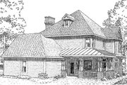 Victorian Style House Plan - 4 Beds 3.5 Baths 2772 Sq/Ft Plan #410-104 Exterior - Rear Elevation