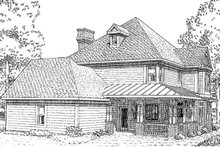 Victorian Exterior - Rear Elevation Plan #410-104