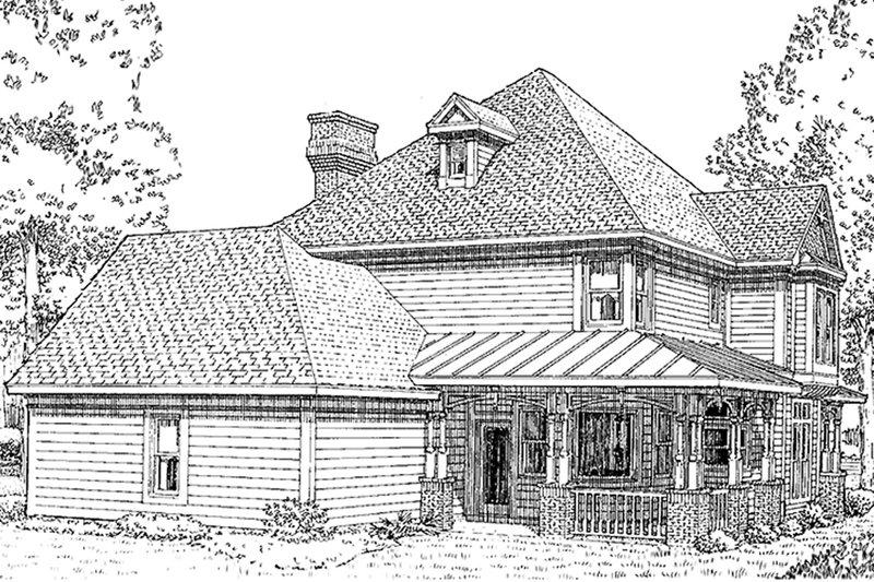 Victorian Exterior - Rear Elevation Plan #410-104 - Houseplans.com