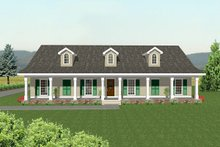 Country Exterior - Rear Elevation Plan #44-108
