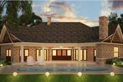 Ranch Style House Plan - 3 Beds 3 Baths 2474 Sq/Ft Plan #119-431 Exterior - Rear Elevation