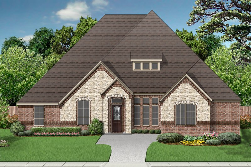 Dream House Plan - European Exterior - Front Elevation Plan #84-600