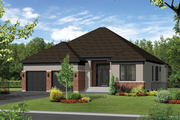 Contemporary Style House Plan - 3 Beds 2 Baths 1819 Sq/Ft Plan #25-4543 Exterior - Front Elevation