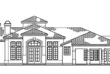 House Blueprint - Mediterranean Exterior - Rear Elevation Plan #72-173