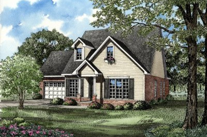 Architectural House Design - Traditional Exterior - Front Elevation Plan #17-262