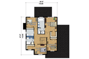 Traditional Style House Plan - 3 Beds 2 Baths 2438 Sq/Ft Plan #25-4486 Floor Plan - Upper Floor Plan