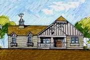 Craftsman Style House Plan - 4 Beds 3.5 Baths 3249 Sq/Ft Plan #440-6 Exterior - Front Elevation