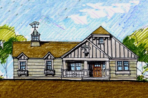 Craftsman Exterior - Front Elevation Plan #440-6