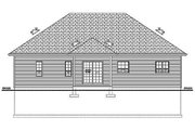 Craftsman Style House Plan - 3 Beds 2 Baths 1244 Sq/Ft Plan #126-183 Exterior - Rear Elevation