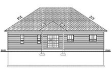 Architectural House Design - Craftsman Exterior - Rear Elevation Plan #126-183