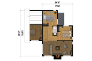 Cottage Style House Plan - 3 Beds 1.5 Baths 1464 Sq/Ft Plan #25-4923
