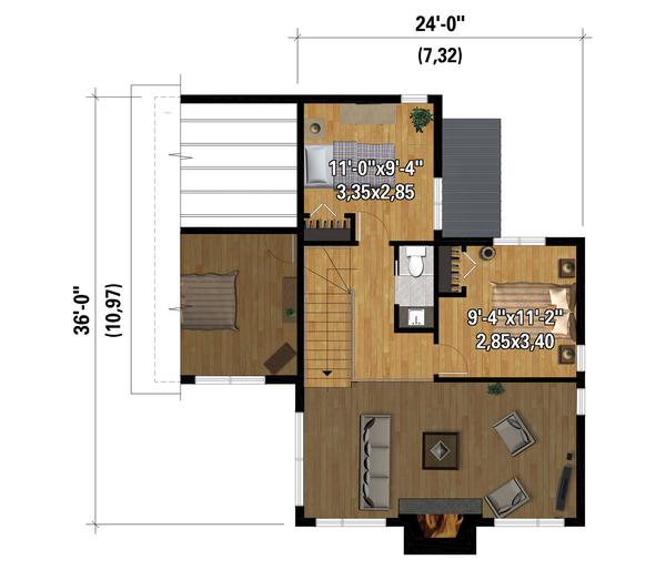Dream House Plan - Cottage Floor Plan - Upper Floor Plan #25-4923