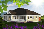 Ranch Style House Plan - 2 Beds 2.5 Baths 2598 Sq/Ft Plan #70-1175 Exterior - Rear Elevation