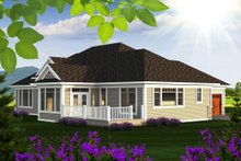 Dream House Plan - Ranch Exterior - Rear Elevation Plan #70-1175
