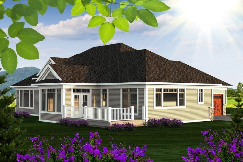 Ranch Exterior - Rear Elevation Plan #70-1175 - Houseplans.com
