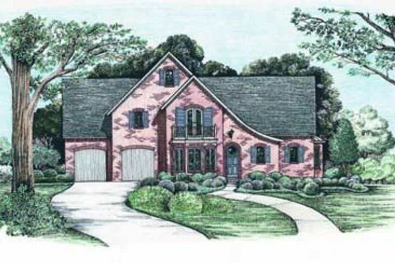 European Exterior - Front Elevation Plan #20-1040