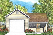 Country Exterior - Front Elevation Plan #22-578