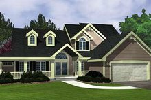 Home Plan - Country Exterior - Front Elevation Plan #320-419