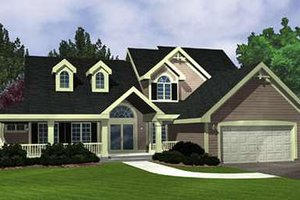 Country Exterior - Front Elevation Plan #320-419