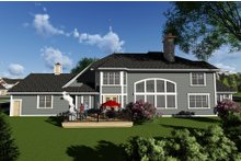 Craftsman Exterior - Rear Elevation Plan #70-1295