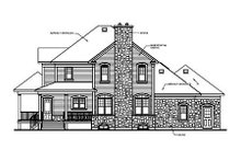 House Plan Design - Country Exterior - Rear Elevation Plan #23-282